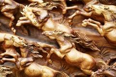 Древесина лошади высекает Стоковая Фотография RF