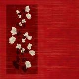 древесина печати цветка красная запятнанная Стоковые Изображения