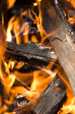 древесина пожара стоковое изображение
