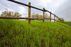 древесина полюса загородки Стоковая Фотография RF