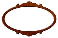 древесина портрета рамки круглая Стоковая Фотография RF