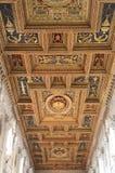 древесина потолка собора стоковое фото