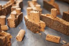 Древесина пробочки и пробочка для вина Стоковые Изображения