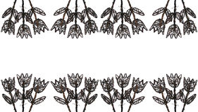древесина рамки 3 цветков иллюстрация вектора