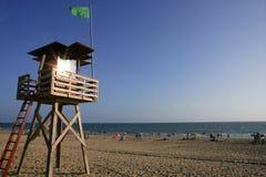 древесина службы береговой охраны кабины пляжа Стоковая Фотография RF