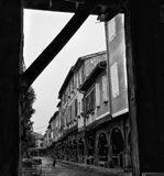 древесина средневекового mirapoix Франции фасада южная Стоковая Фотография