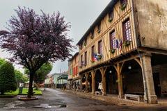 древесина средневекового mirapoix Франции фасада южная Стоковое Фото