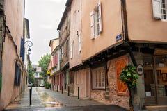 древесина средневекового mirapoix Франции фасада южная Стоковое Изображение RF