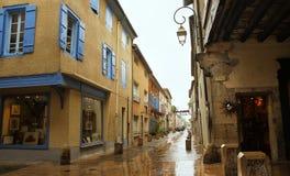 древесина средневекового mirapoix Франции фасада южная Стоковые Фотографии RF