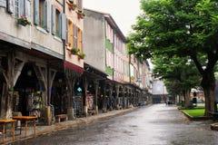 древесина средневекового mirapoix Франции фасада южная Стоковая Фотография RF
