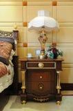 древесина стойки кровати головная светлая Стоковое Фото