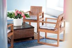 древесина стула зоны живущая Стоковое Фото