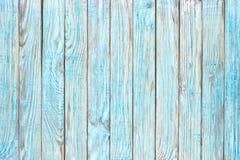 Древесина текстура, предпосылка деревянных голубых доск Стоковая Фотография
