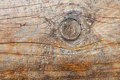 Древесина текстуры старая с суком Стоковое Изображение