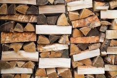 Древесина топлива, естественная Деревянная предпосылка прервано стоковая фотография