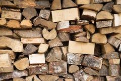 Древесина топлива, естественная Деревянная предпосылка прервано стоковое изображение rf