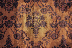 Древесина флористического орнамента предпосылки Grunge Стоковое фото RF