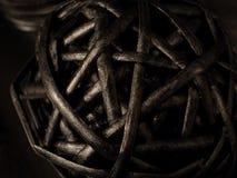 древесина шарика черная Стоковое фото RF