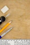 древесина школы вспомогательного оборудования Стоковая Фотография