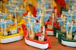 Древесина шлюпки игрушки стоковое фото rf