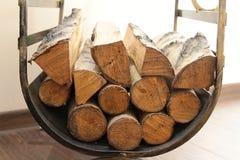 Древесина для камина Стоковые Фото