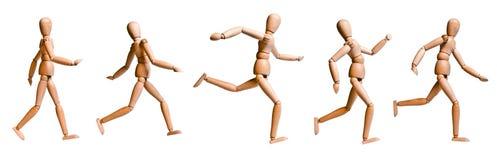 древесина 2 кукол установленная различная гуляя Стоковая Фотография