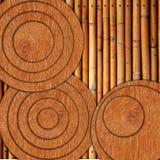 древесина bamboo круга старая Стоковая Фотография
