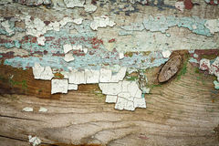 Древесина Grunge с краской шелушения, большой предпосылкой Стоковые Фотографии RF