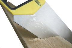 древесина handsaw Стоковые Фотографии RF