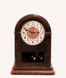 древесина sepia часов кронштейна Стоковое Изображение