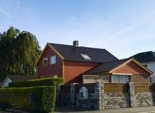 древесина stavanger дома Стоковое Изображение