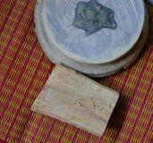 Древесина Thanaka и pyin Kyauk сляб камня Стоковое Изображение