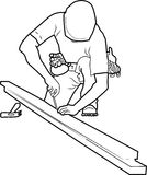 Древесина worker4 Стоковое Изображение RF
