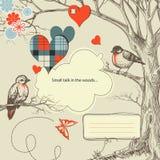 древесины даты романтичные иллюстрация штока