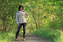 древесины девушки Стоковая Фотография RF