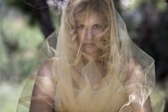 древесины женщины портрета Стоковое Фото