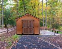 древесины журнала lodge звероловства дома forester кабины Стоковые Фото