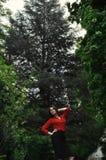 Древесины, древесины, древесины и oops девушка Стоковые Фотографии RF
