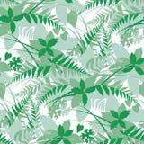Древесины, картина силуэта листьев леса безшовная иллюстрация штока