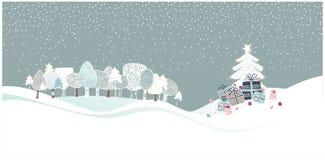 древесины рождества иллюстрация штока