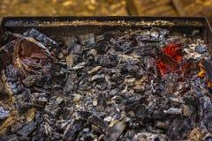 Древесин-горя барбекю Стоковое Изображение RF