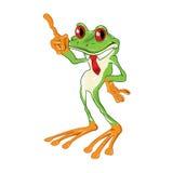 Древесная лягушка шаржа наблюданная красным цветом Стоковое Изображение RF