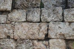 Древнегреческий Антальи Perge, тысячи стены блока лет старой каменной Стоковые Фотографии RF