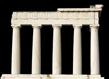 древнегреческий изолировал висок стоковые изображения rf