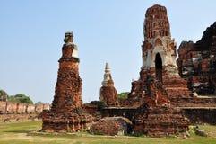 Древние храмы в Ayutthaya Стоковая Фотография RF