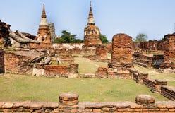 Древние храмы в Ayutthaya Стоковая Фотография