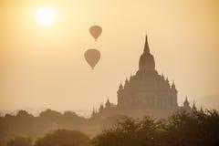 Древние храмы в Bagan, Мьянме Стоковое Фото
