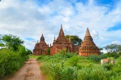 Древние храмы в Bagan, Мьянме Стоковые Фотографии RF