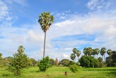 Древние храмы в Bagan, Мьянме Стоковое Изображение