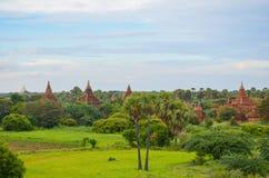 Древние храмы в Bagan, Мьянме Стоковые Фото